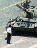 L'homme au tank de la Place Tiananmen