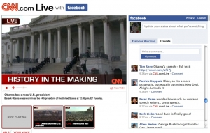 CNN live + Facebook Connect