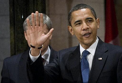 Obama cachant harper